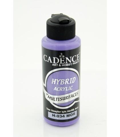№34 Hybrid Acrylic, Фиолетовый, 70мл., Cadence