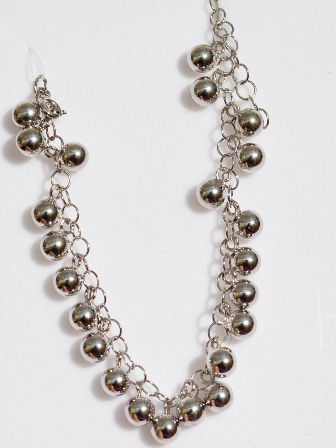 Шарики 23 (браслет из серебра)