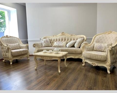 Набор мягкой мебели МОНА ЛИЗА крем