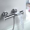 Смеситель термостатический для ванны с каскадным изливом и душевым комплектом ALEXIA 363901TR - фото №3