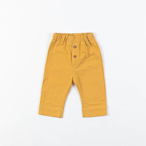 Flannel joggers 0+, Mustard