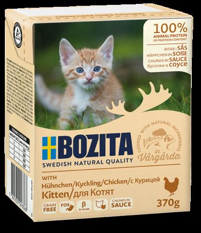Bozita Kitten Tetra Pak Консервы для котят с курицей, кусочки в соусе