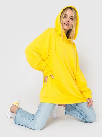 Худи трикотажное желтое YOS