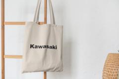 Сумка-шоппер с принтом Кавасаки (Kawasaki) бежевая 007