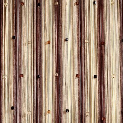 Радуга со стеклярусом Беж, коричневый, шампань. Ш-300см., В-280см. Арт.8-13-14