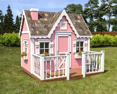 Домик для маленькой принцессы с верандой