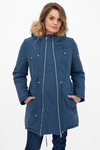 Куртка-парка 2 в 1 для беременных 11149 синий
