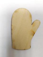 ВЫРУБКА НОВОГОДНЯЯ из дерева и пивного картона 1,2 мм, 1 шт.