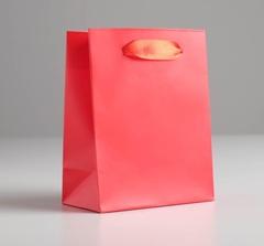 Пакет подарочный «Алый», 11,5 × 14.5 × 6 см, 1 шт.