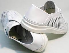 Легкие летние туфли сникерсы белые женские ZiKo KPP2 Wite.