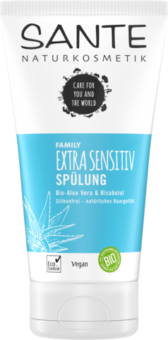 SANTE FAMILY Кондиционер для волос для чувствительной кожи с био-алое и бисабололом, 150 мл