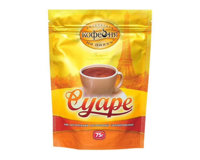 купить Кофе растворимый Московская Кофейня на Паяхъ Суаре, 75 г пакет