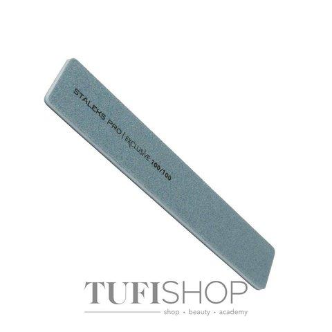 Пилка широкая прямая минеральная для ногтей EXCLUSIVE 100/100 грит