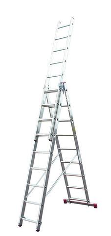 Универсальная лестница алюминиевая, трехсекционная, KRAUSE CORDA 010384, 3х8