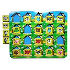 кто прячется в домиках в игре Мемо Домики, Smile-decor