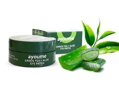 Гидрогелевые патчи для глаз Ayoume Green Tea & Aloe Eye Patch с экстрактом зеленого чая и алое