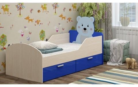 Детская кровать Бемби-5 МДФ с фотопечатью, 80х160