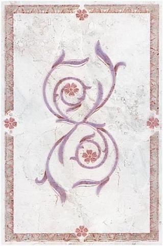 Декор Травы розовый B186\830 200х300