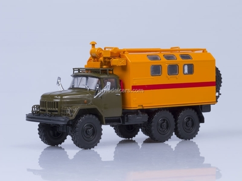 ZIL-131 kung MTO-AT mobile workshop khaki-orange 1:43 AutoHistory