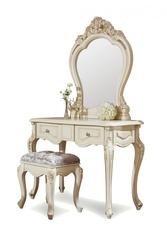 Туалетный столик с зеркалом Милано (MK-1850-IV) Слоновая кость