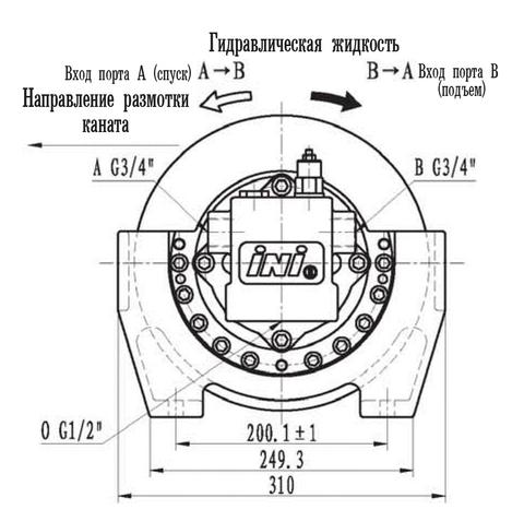 Эвакуационная лебедка IYJ2-10.2-86-8-ZPN
