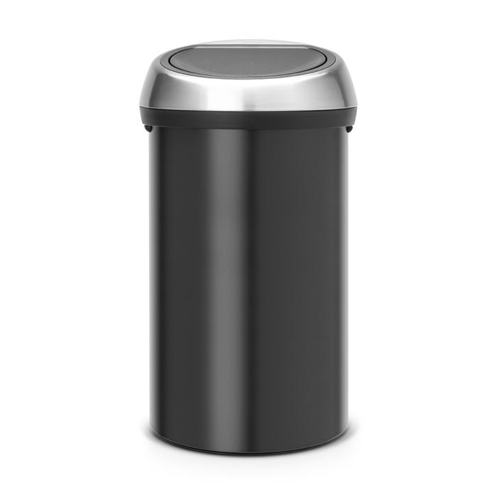 Мусорный бак Touch Bin (60 л), Черный матовый, арт. 402548 - фото 1