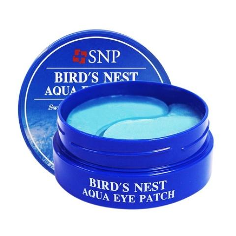 Гидрогелевые патчи SNP bird's nest aqua eye patch, для век  с экстрактом ласточкиного гнезда, 60 шт