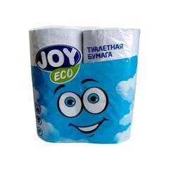 Бумага туалетная Joy Eco 2-слойная белая (4 рулона в упаковке)