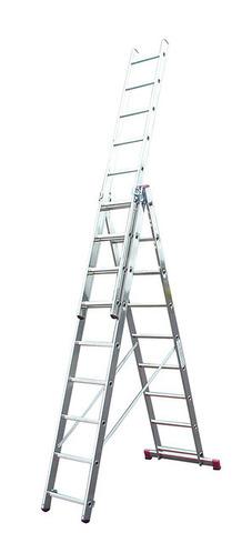 Лестница алюминиевая, трехсекционная, KRAUSE CORDA 3х9