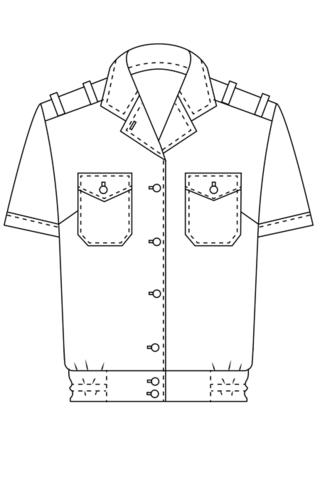 Выкройка женской форменной рубашки