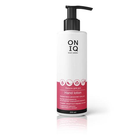 Лосьон для рук ONIQ   с ароматом ванили и коричневого сахара, 200 мл