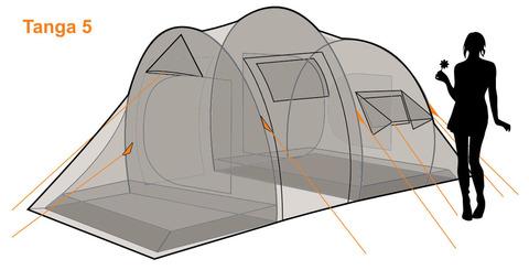 Палатка Canadian Camper TANGA 5, цвет woodland, схема 2.