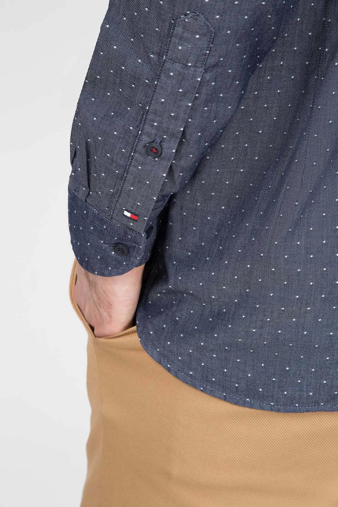 Мужская темно-синяя рубашка TWO TONE DOBBY Tommy Hilfiger