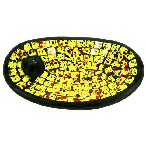 Подставка под благовония Yellow, 13*21 см, керамика/стекло