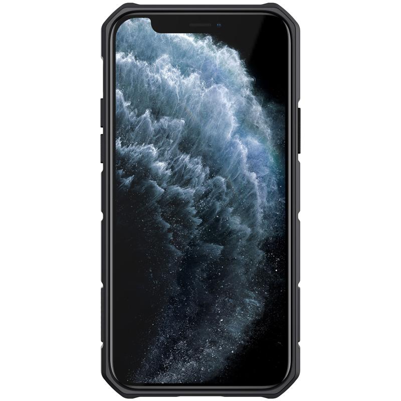Чехол для iPhone 12 и 12 Pro от Nillkin серии CamShield Armor Case с кольцом и защитной шторкой для задней камеры