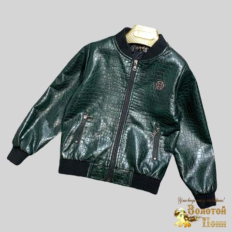 Куртка экокожа мальчику (4-12) 210328-К-74025