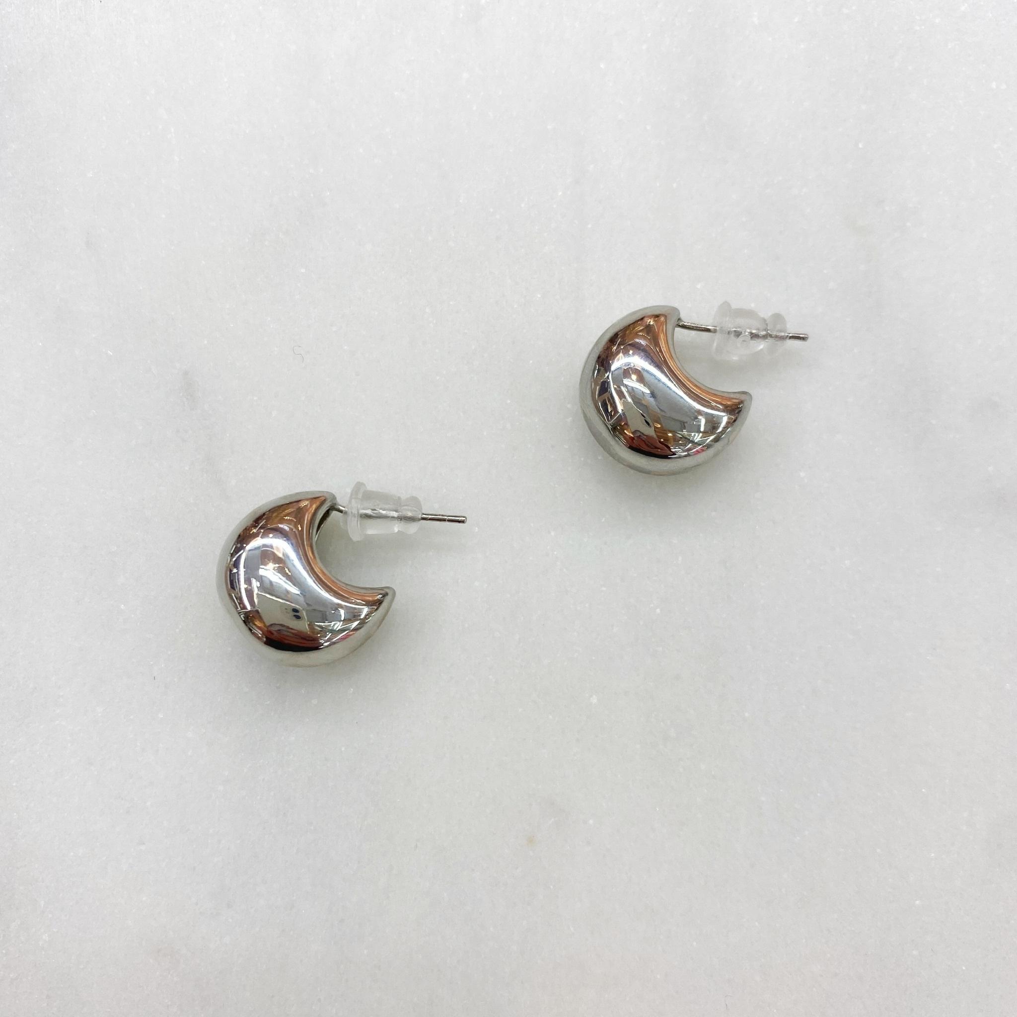 Серьги-гвоздики Капельки ш925 (серебристый)