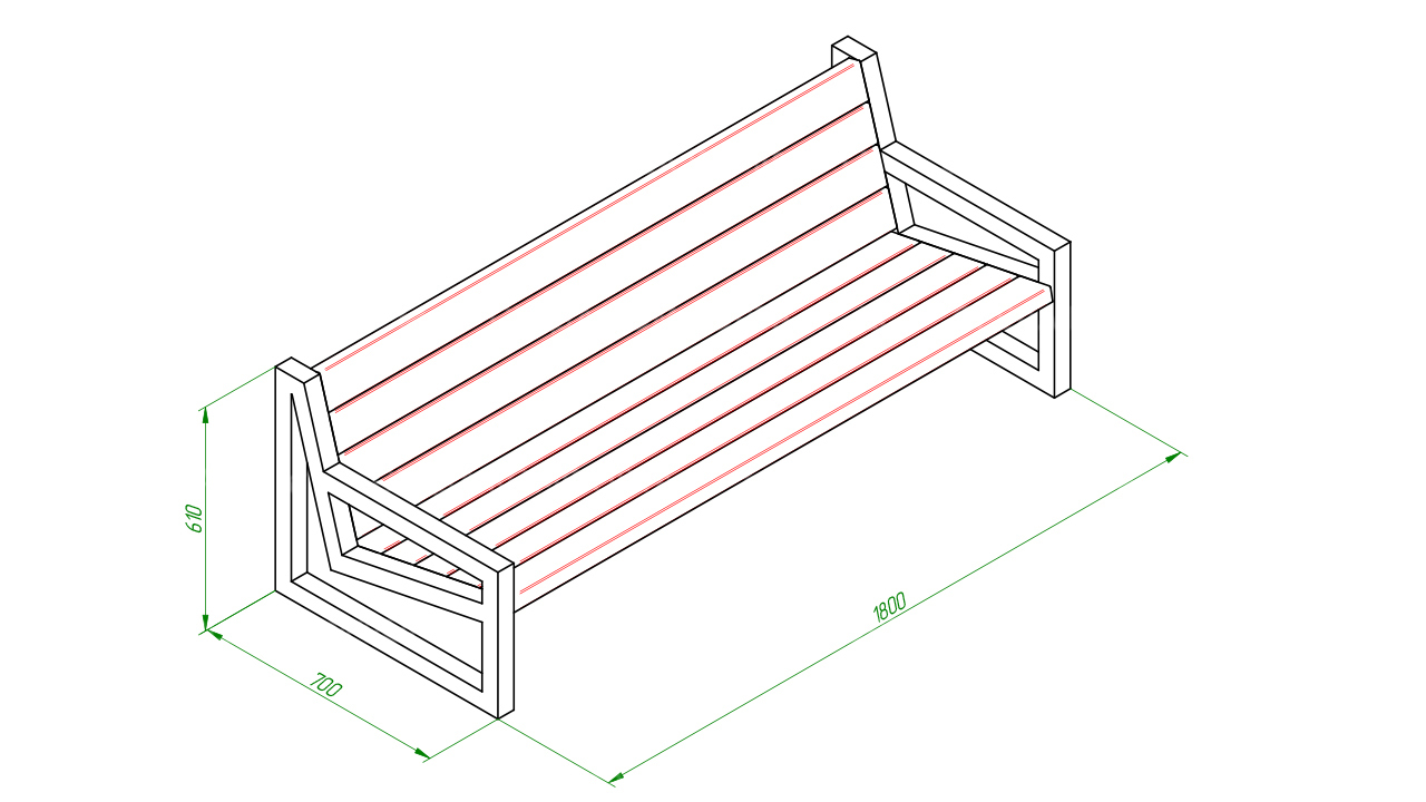 Скамейка диван SCAM0070