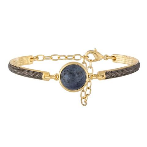 Классический браслет Pearl Blue Aventurine C1363.23 BL/G