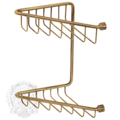 Решетка угловая двойная Migliore Complementi H25xL16xP16 cm ML.COM-50.112 бронза