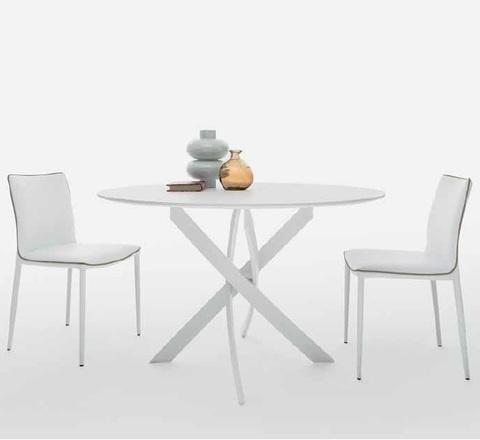 Стол BARONE (01.92) G093 хром/С150 э-бел. гл. стекло, L021алюм.вставка (обеденный, кухонный, для гостиной), Материал каркаса: Металл, Цвет каркаса: Хром, Материал столешницы: Стекло закаленное, Цвет столешницы: Экстра-белый глянцевый С150, Цвет: Белый