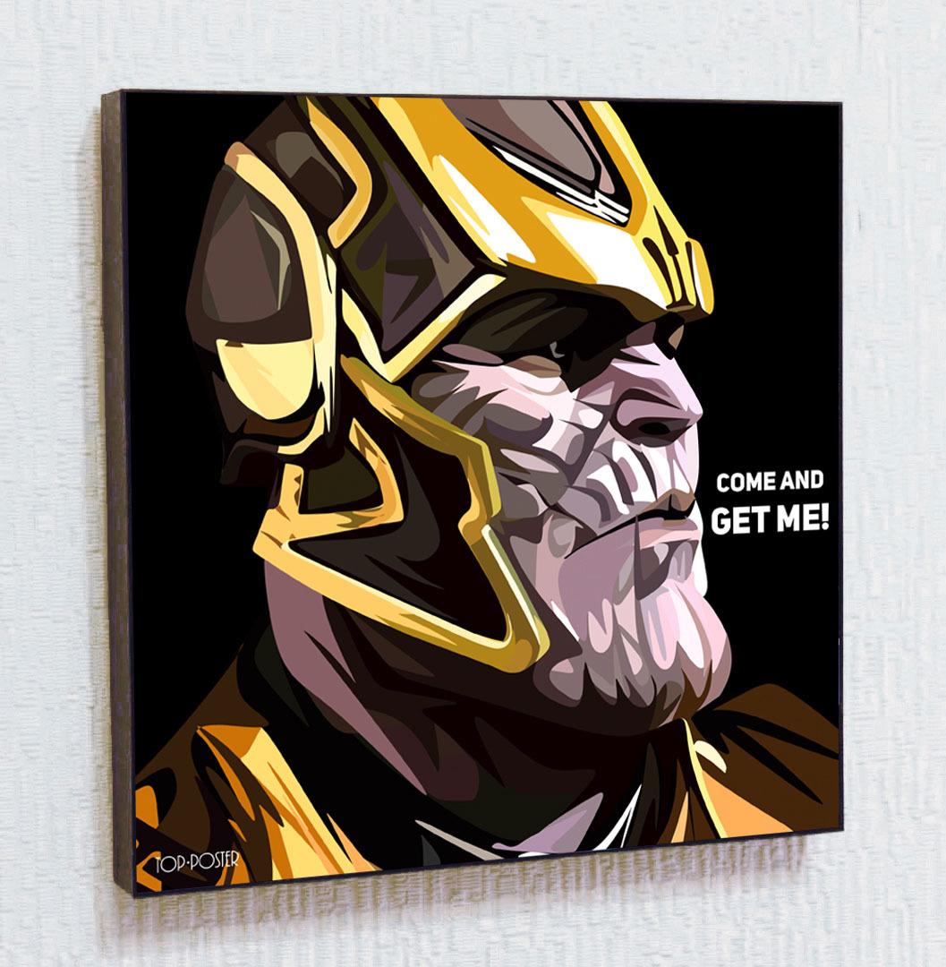 Купить картину ПОП-АРТ Танос Marvel