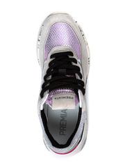 Комбинированные кроссовки Premiata Scarlett 3693 на шнуровке