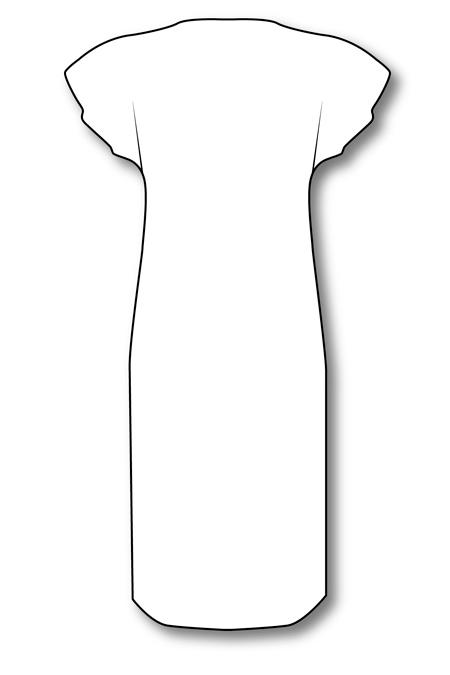 Выкройка халата со спущенной проймой и боковыми рельефами на заказ