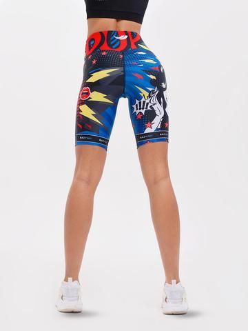Велосипедки жен. для йоги и фитнеса Fit pop art