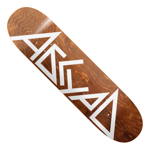 Дека для скейтборда АБСУРД Logo SS21 (Brown)