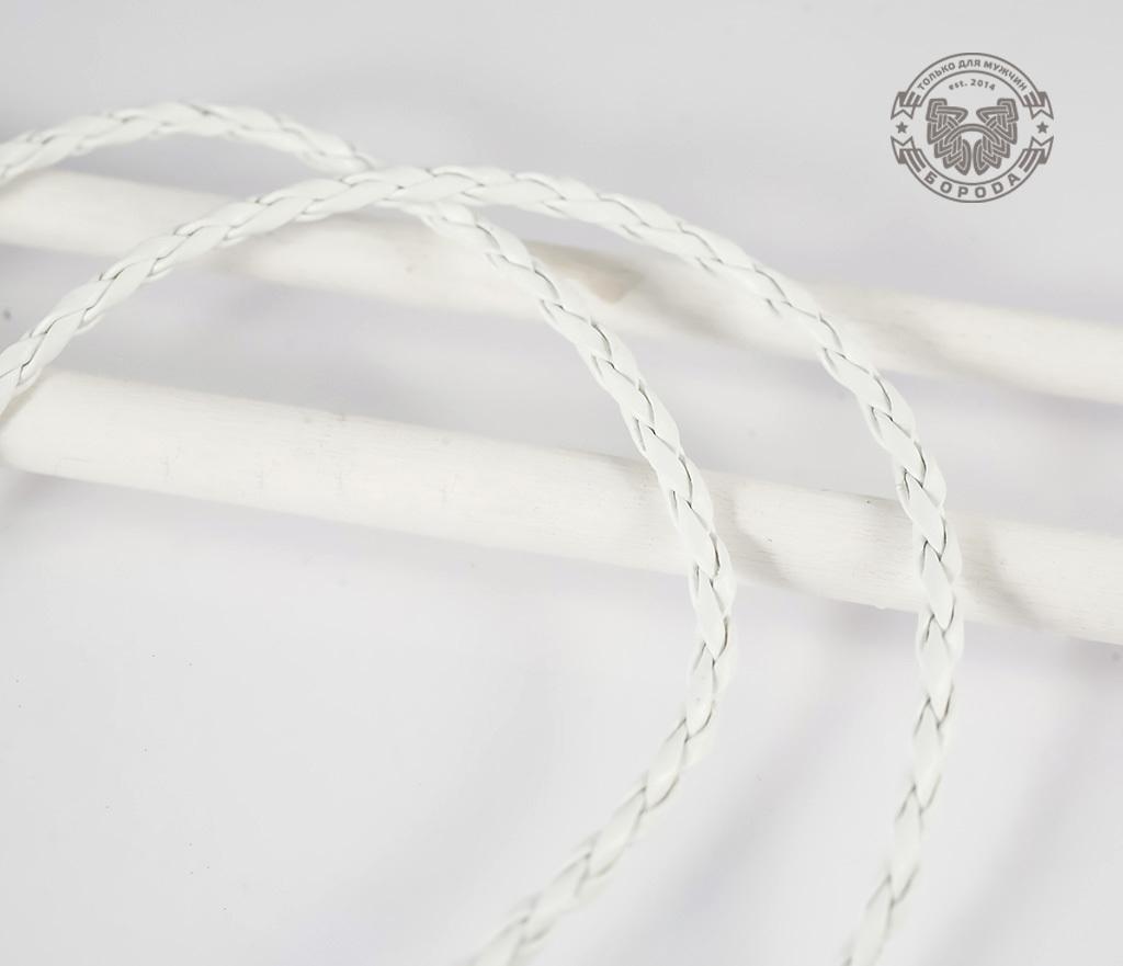 PL261-3 Кожаный шнур с застежкой белого цвета (45 см) фото 03