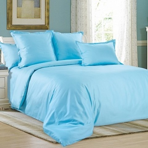 Сатин гладкокрашеный 220 см WSB/005 цвет голубой