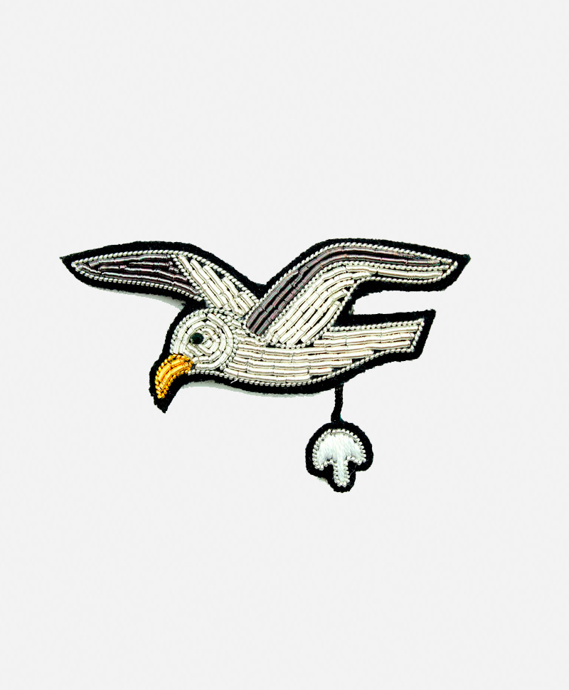Брошь Flying Seagull
