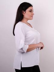 Леона. Оригінальна блуза size plus. Білий.